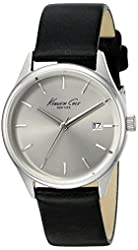 Kenneth Cole New York Women's 'Classic' Quartz Stainless Steel and Black Leather Dress Watch (Model: 10025930)