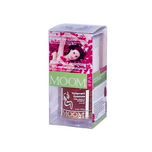 Moom Organic Hair Removal Kit With Rose, 6-Ounce (Moom Hair Remover)