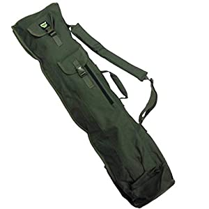 Carp On – Fishing Tackle 600D GREEN 4 ROD QUIVER SLING UMBRELLA HOLDALL BAG (120 x 33cm) – For Carrying Your Fishing…