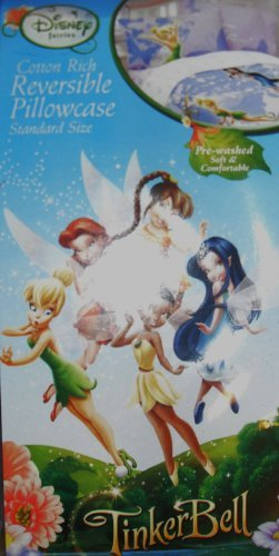 Tinkerbell Reversible Cotton Pillowcase