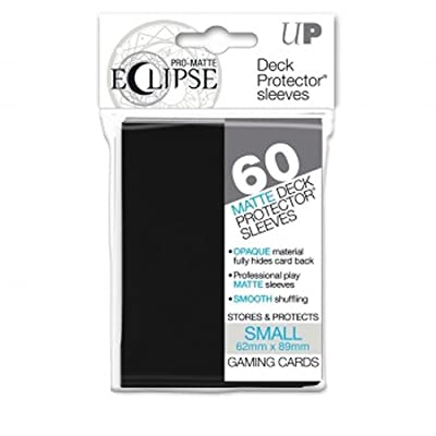 Ultra Pro Pro-Matte Eclipse Small Black (60 Sleeves) -85386: Toys & Games