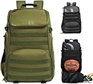 TRAILKICKER Basketball Backpack with Laptop Compartment and Bonus Attachable Laundry/Shoe Bag, Outdoor Sports