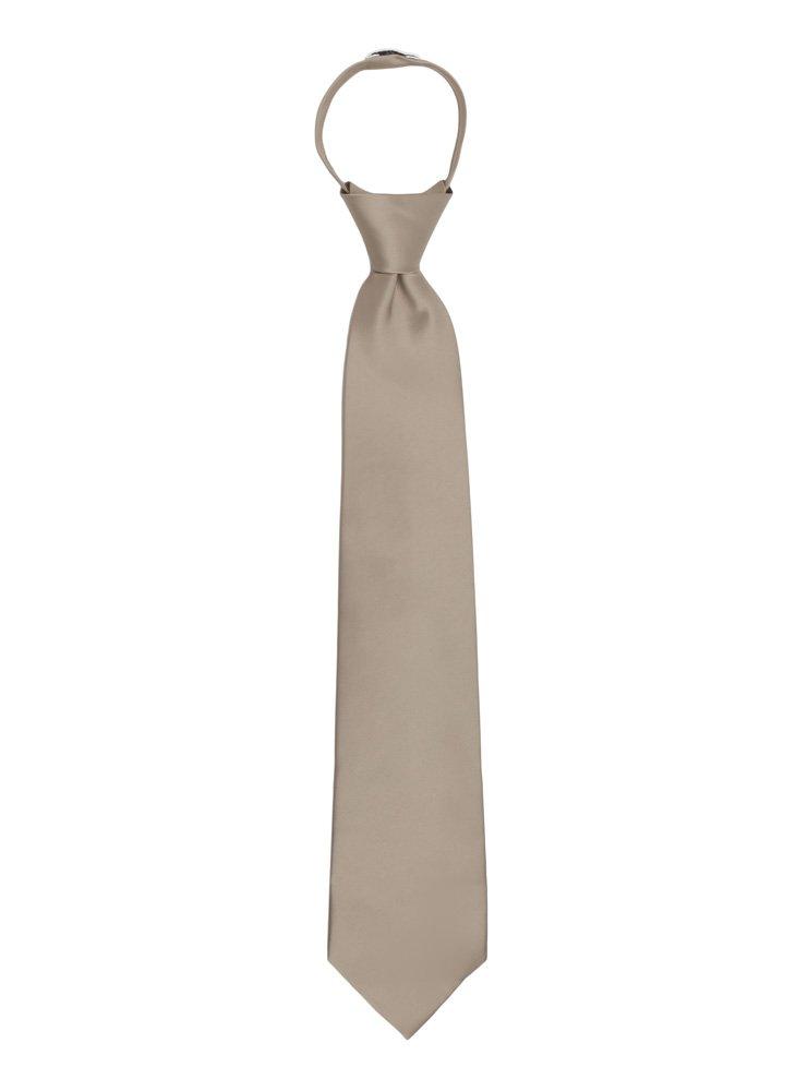 Jacob Alexander Boy's 14 Pretied Ready Made Solid Color Zipper Tie - Apple Green JPSBZ056
