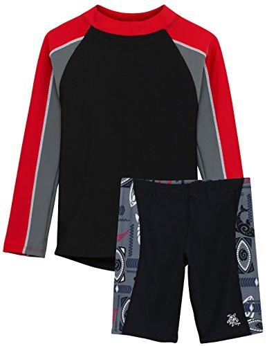Tuga Boys Tube L/S in Black/Carminio & Jammer Short