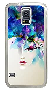 Brian114 Samsung Galaxy S5 Case, S5 Case - High Impact Defender Case for Samsung Galaxy S5 Chic One Eye Girl Fashion Print Patterns Clear Hard Case for Samsung Galaxy S5 I9600