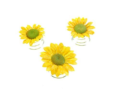 clarigo, Curlies, Sonnenblume, Hochzeit, Haarnadeln, Haarklemmen, Kommunion, Festival