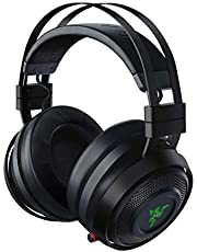 رازر ناري التيميت لاسلكية 7.1 مع صوت محيطي للألعاب: THX اوديو & هابيتيك - كروما RGB - قابل للسحب للكومبيوتر والبلاي ستيشن 4 وبلاي ستيشن 5 - اسود