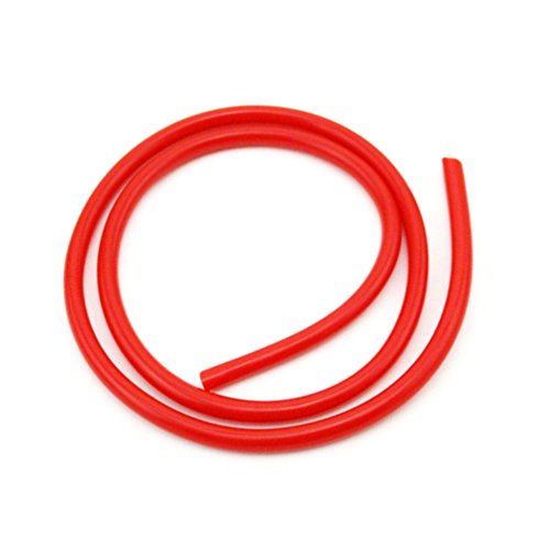 XLJOY 1 Meter 5mm Red Fuel Hose Line For ATV Quad 4 Wheeler Pit Dirt Motor Trail Bike Go Kart Buggy Motocross Snowmobile Motorcycle