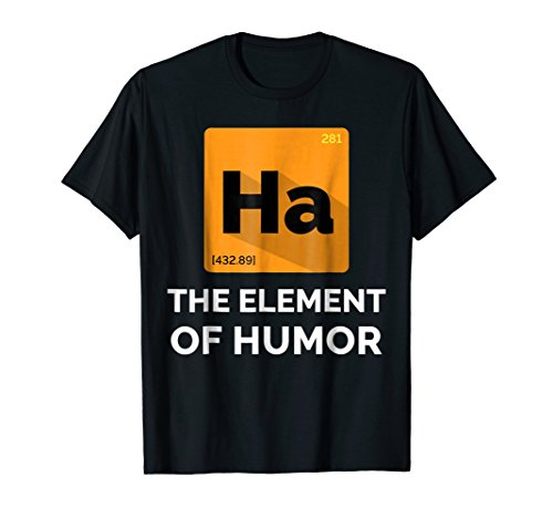 Mens T-shirt Element Short (Primary Element of Humor | Funny Printed T Shirt Design)