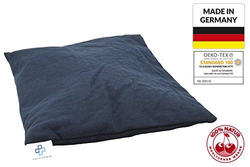 Coussin garni de noyaux de cerises Bouillotte de grand format 25x 30cm Taille XXL Fabriqué en Allemagne et certification Oeko-Tex 100 ATC Handels GmbH