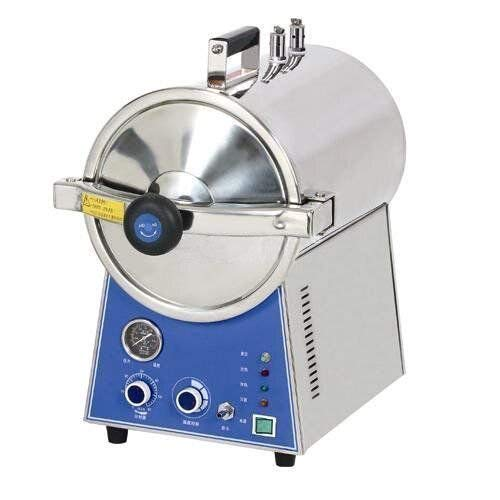 Aries Outlets Portable 24L Full Stainless Steel Pressure Steam Autoclave Sterilizer for Lab Use Equipment