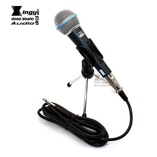 プラグケーブルBT58AはBETA 58A 58 Microfone Microfono用スタンドの動的有線ホルダーハンドヘルドマイクデスクトップを切り替えて3メートル6.5ミリメートル   B07K2H32HB