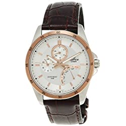 Men's Stainless Steel Edifice Rose Two Tone Dial Quartz Date Retrograde Day