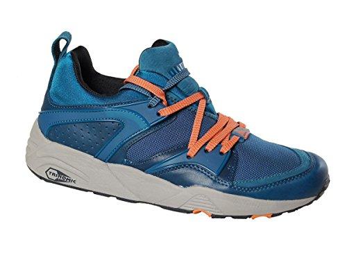 Puma Trinomic Blaze of Glory Leather Herren Schuhe Blau Sneaker Blau