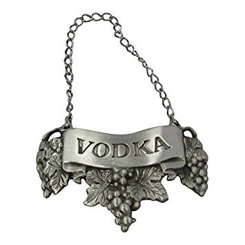 - Lindsay Claire Vodka Embossed Pewter Liquor Bottle or Decanter Label