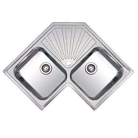 Reginox Montreal 2.0 Bowl Polished Stainless Steel Corner Kitchen Sink