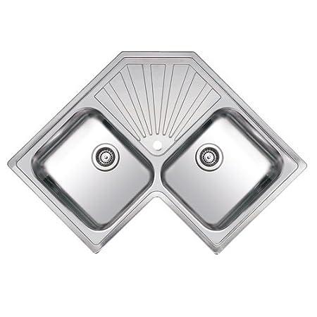 Reginox Montreal 2.0 Bowl Polished Stainless Steel Corner Kitchen Sink
