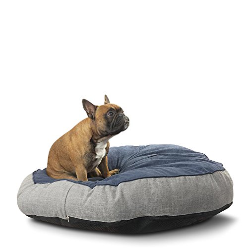 Suede Dog Faux Coat (Silver Paw SDPA2384 Faux Suede Antimicrobial Round Pet Beds, 38