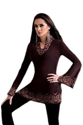 jayayamala Robe décontractée en tunique à manches longues