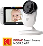 Kodak Cherish Wi-Fi Connected 720p Video Baby Monitor, White2 Count