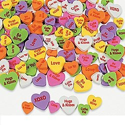 (Assorted Craft Foam Conversation Heart Beads (500 pieces per)