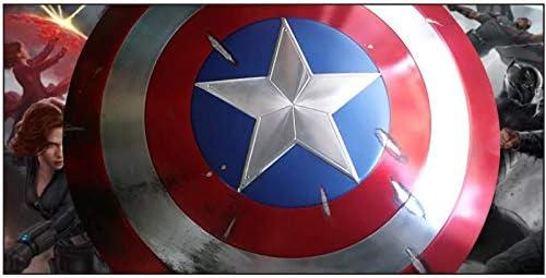 Super Hero Captain America Shield,60 Cm 1:1 Film Versie Dubbellaags Stempelen Structuur Aluminium Tekening Proces Captain America Shield