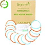 16 Pack Wegreeco Bamboo Makeup Remover Pads with Laundry Bag - Chemical free, Reusable Soft Facial and Skin Care Wash Cloth Pads(Bamboo Velour, Graceful)