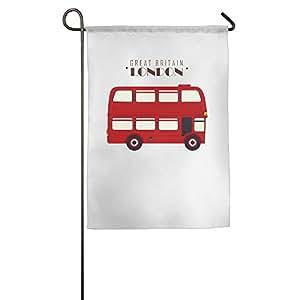 Poliéster tejido jardín banderas interior casa coche o camión uso jardín casa bandera gran Bretaña Londres parada de autobús Fashion Custom bandera de Jardín al aire libre la celebración de vacaciones decoración impermeable banderas