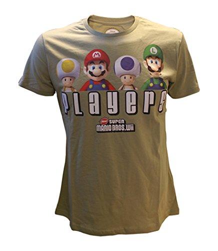 Nintendo T-Shirt -L- SMB Players (khaki)