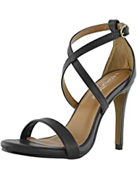 Women's High Heel Sandal Open Toe Ankle Buckle Cross Strap Platform Pump Evening Dress Casual Party Shoes