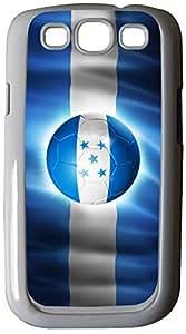 Rikki KnightTM Brazil World Cup 2014 Honduras Team Football Soccer Flag - White Hard Rubber TPU Case Cover for Samsung? Galaxy i9300 Galaxy S3
