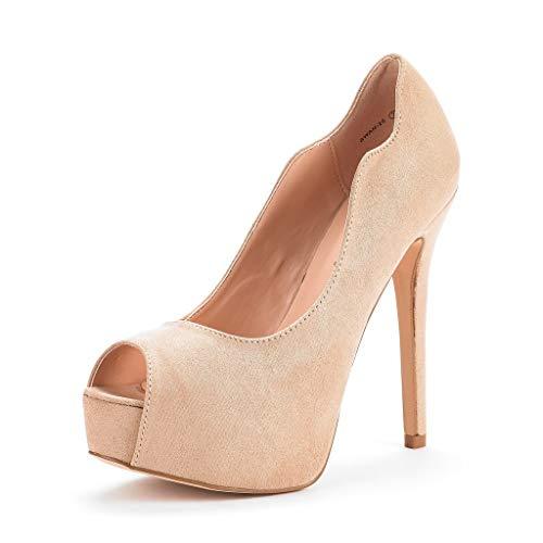 - DREAM PAIRS Women's Swan-25 Nude High Heel Platform Dress Pump Shoes Size 8 M US