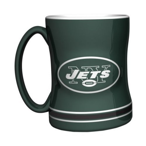 - 2015 NFL Football Coffee Mug - 14 ounce Ceramic Coffee Cup (Jets)