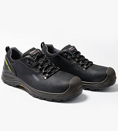 Sicherheitsschuhe S3 SRC HRO Trient Plus FLEXITEC schwarz - Schuhe EN ISO 20345 mit Durchtrittschutz S3 - Arbeitsschuhe wasserabweisend S3 - Gr. 41