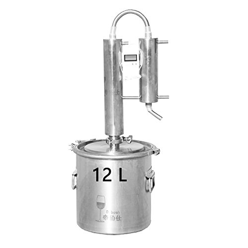 12L/20L/35L Home Moonshine Still Distiller Stainless Steel Cooler Ethanol Water Essential Oil Boiler Spirits Alcohol Wiskey Thumper Keg Brewing Kit Wine Making Fermenter Tank (12Litres, 316 Stainless) by WMN_TRULYSTEP