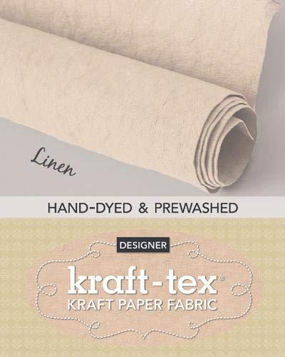 kraft-tex Roll Linen Hand-Dyed & Prewashed: Kraft Paper Fabric, 18.5