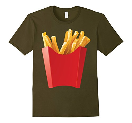 [Mens GIANT FRENCH FRIES Shirt makes a great Halloween Costume Medium Olive] (Giant Olive Costume)