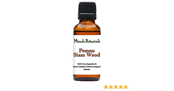 Miracle Botanicals Pemou - Siam Wood Essential Oil - 100% Pure Fokienia  Hodginsii - Therapeutic