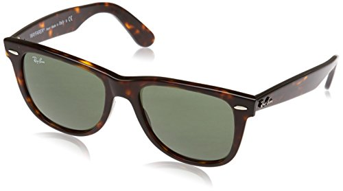 Ray-Ban RB2140 Wayfarer Sunglasses, Tortoise/Green, 54 ()