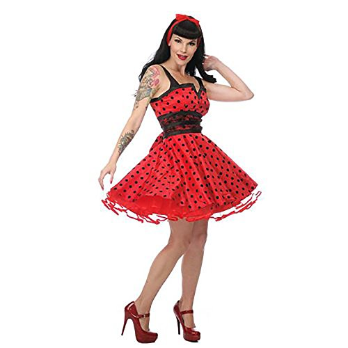 Jawbreaker red DOTS CUTE DRESS Kleid black Red 6xqfC0