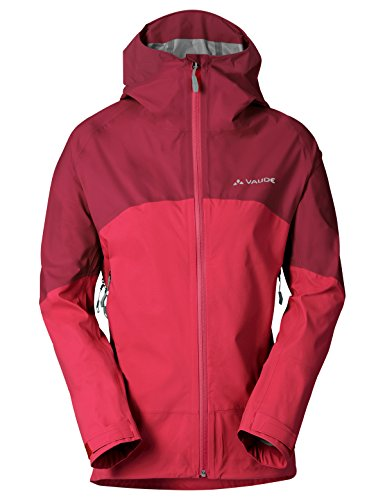 VAUDE Women's Croz 3L Jacket, Strawberry, Size - Rock Vaude
