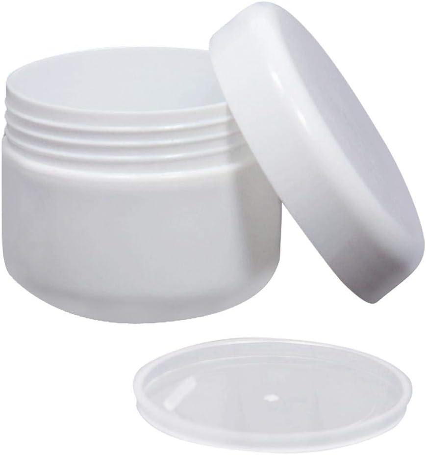 12 Piezas 50G envase vacío de plástico Transparente de Bricolaje casero Viajes Accesorio para Caja Tarro Crema de Cacao Crema cosmética