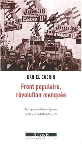 """Résultat de recherche d'images pour """"front populaire, révolution manquée"""""""