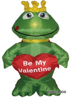 4 Foot Inflatable Frog with Heart
