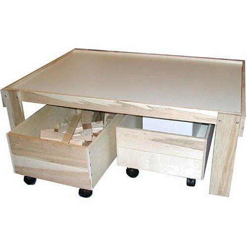 Cheap Beka Train Table with Top and Two Trundles