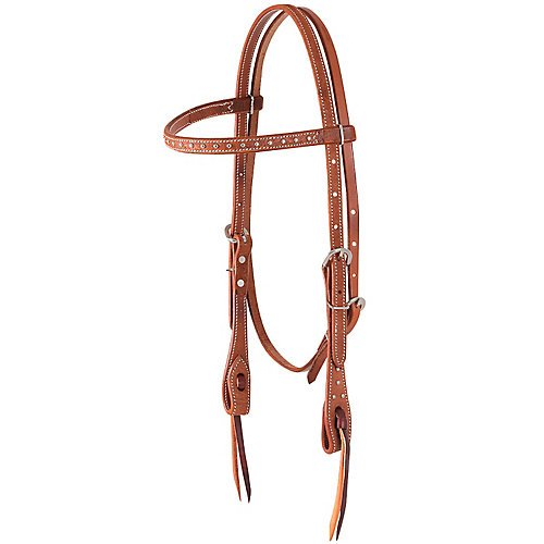 Martin Saddlery Silver Dots Browband Headstall