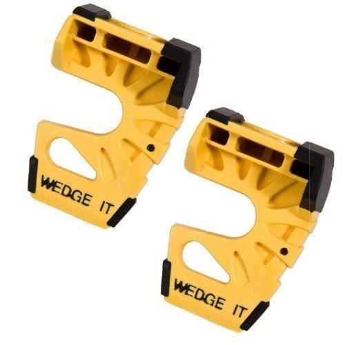 Wedge-It - The Ultimate Door Stop - Yellow - TWO PACK