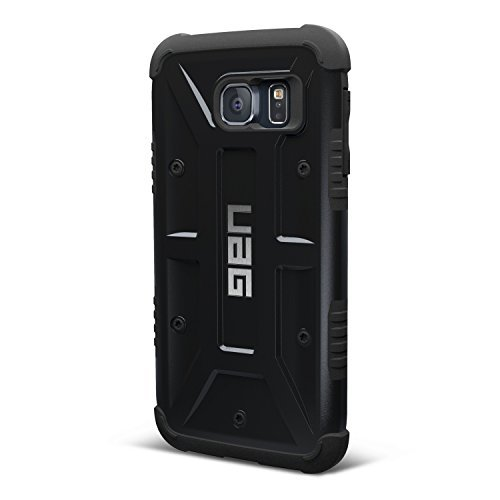 UAG Samsung Galaxy S6 [5.1-inch screen] Feather-Light Composite [BLACK] Military Drop Tested Phone Case Blk Hybrid Silicone Earbuds