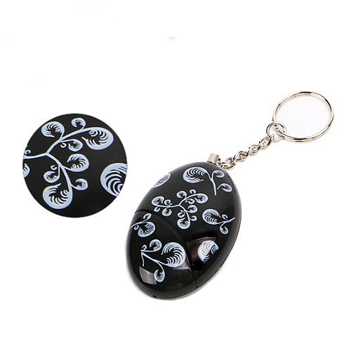 Black Smart Emergency Personal Alarm Key Chain for Women,Kids,Girls,Superior,Explorer Bag Decoration Self Defense Electronic Device with 120 Decibel Suitable