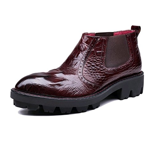 Lazy NIUMJ Boots Winered Uomo Da Stivali Fashion Stivali Uomo Outdoor Casual Da rqzrRF